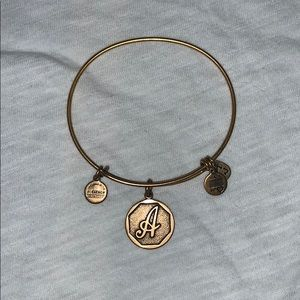 "Brand new Alex and Ani ""A"" bracelet."